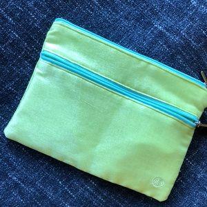Merle Norman double zipper cosmetic bag